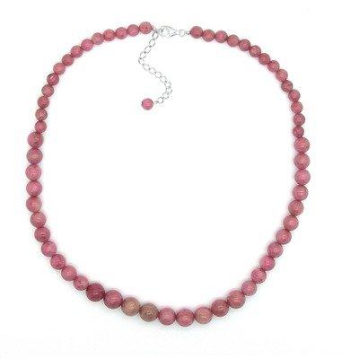 Journey Sterling Silver Rhodonite Necklace
