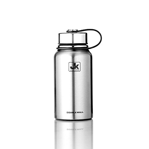 Eunicexu Stainless Steel Water Bottle - Double Wall Vacuum Insulated - Wide Mouth - 20oz,27oz,37oz
