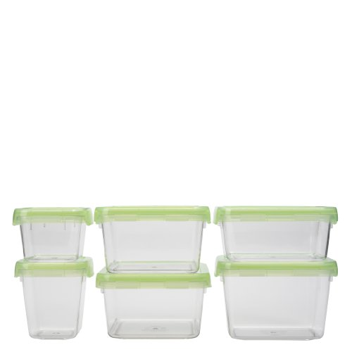 OXO Good Grips 12-Piece LockTop Container Set with Green Lids (Oxo Clear Container compare prices)