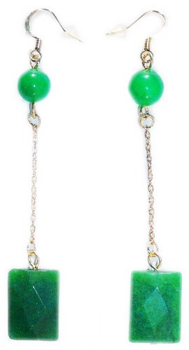 Jade facet Earrings
