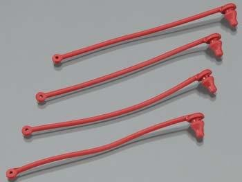 Traxxas 5752 Spartan Body Clip Retainer, Red - 1