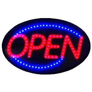Extra Large 24X14 Open Led Neon Sign With On/Off Animation + On/Off Switch +Chain Exclusive By *Top Neon Neon Signs Tm Logo In Sign* front-1036252