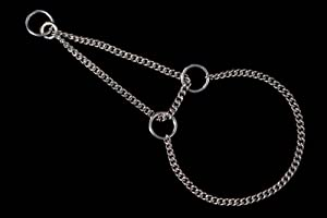 Alvalley Martingale Chain Show Collar for Dogs Thickness 1.4 mm x 18 in