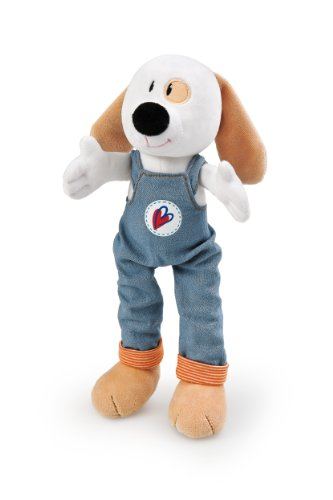 Trudi Plush Dog in Blue Overalls, 12""