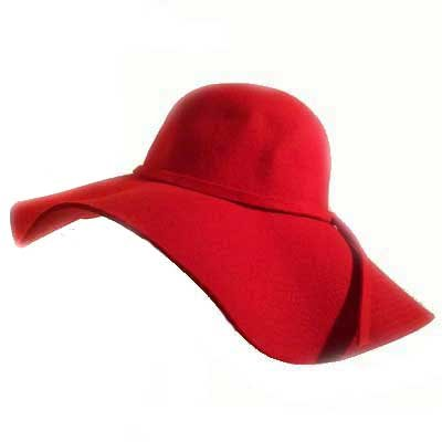 Fashion Tape   on Buy Seductive Red Wide Brim Diva Style Floppy Hat