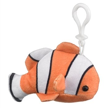 Wildlife Artists, Inc - Stuffed Plush - CLOWNFISH (Key Clip - 4 inch)