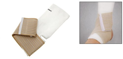 Sports Elastic Ankle Protector Band Pad Brace Supporter with Strap