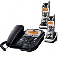 GE - 5.8 GHZ EDGE Speakerphone w Digital Answering system with two handsets