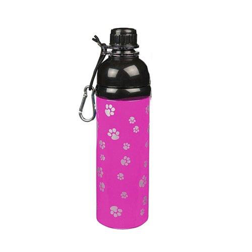Guardian Gear Stainless Steel Dog Water Bottle, 24-Ounce, Pink