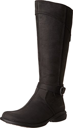 Merrell Women's Captiva Buckle-Up Waterproof Boot,Black,8 M US