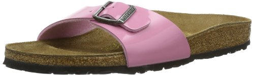 Birkenstock Classic Womens MADRID BF LACK Clogs And Mules Red Rot (CASHMERE ROSE) Size: 35