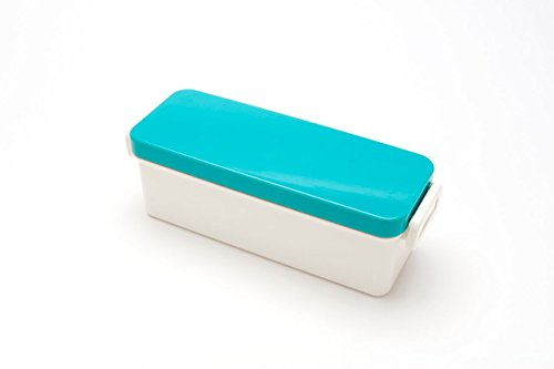 Skater Lunch Box No. 3 Slim Lunch Box with Fork, Blue