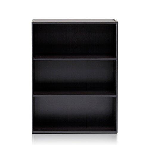 Furinno 11208EX Pasir 3-Tier Open Shelf, Espresso (3 Shelf Bookshelf compare prices)