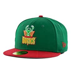 Milwaukee Bucks New Era NBA Hardwood Classics Metallic Patch 59FIFTY Cap by New Era
