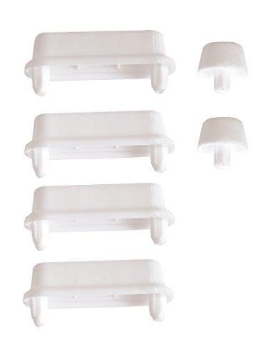 WC-Sitz-Puffer Nr. 10 | Auflagestopfen für Toilettensitz | Abstandhalter für WC-Brille | Dämpfer | Ersatzteil für Toilettendeckel | Weiß | Kunststoff