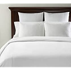 400 Thread Count 100% Egyptian Cotton 1PC King Duvet Cover in Solid White with Zipper Closure
