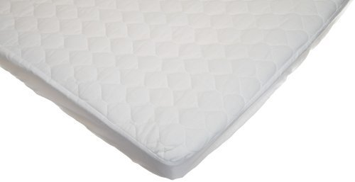 American Baby Company Waterproof Quilted Cotton Portable/Mini Crib Mattress Pad Cover, White front-883556