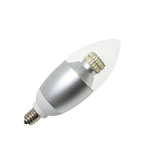 3 pack 6 watt led chandelier bulb 60 watt replacement 580 lumens e12 candelabra base 5000k. Black Bedroom Furniture Sets. Home Design Ideas