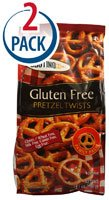 Glutino Pretzel Twists Gluten Free -- 14.1 oz Each / Pack of 2
