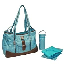 Gorgeous Zippered Top Kalencom Weekender Tote Diaper Bag With Mesh Storage Pockets - Power Blue Nourrisson, Bébé, Enfant, Petit, Tout-Petits