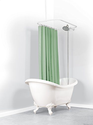 Neverrust Aluminum Hoop Shower Curtain Rod For Claw Foot