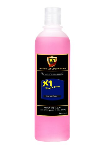 X1 Wash & Gloss (500 ml) - Neutral pH Premium Car Shampoo (used with X1 Shine & Seal Paint Protection system)