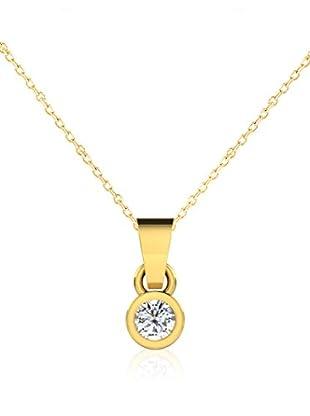 Friendly Diamonds Conjunto de cadena y colgante FDP6242Y Oro Amarillo