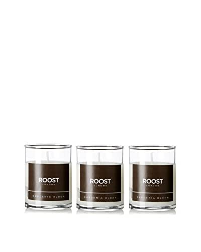 Bluewick Candles Set of 3 Gardenia Bloom ROOST London Everyday Scented 3.2-Oz. Votive Candles