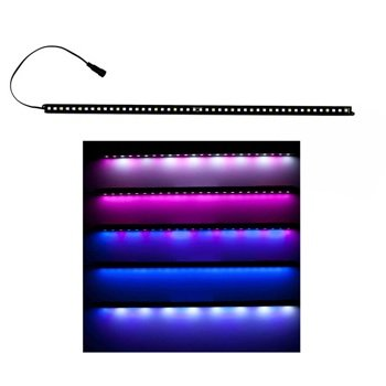 Ecoxotic Stunner 12-Watt 48 Led Aquarium Light Strip, 24-Inch, Magenta/12000K White
