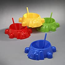 Cereal for Kids Plastic Soup with Built in Straw 4 x Sip-a