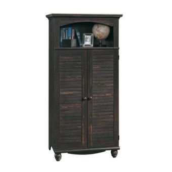 Sauder Harbor View Computer Armoire, Antiqued Paint (Computer Cabinets compare prices)