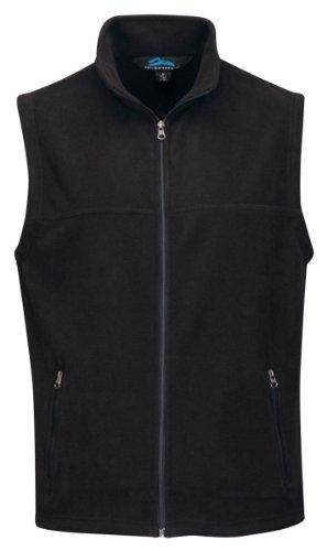 Tri-Mountain Men'S Big And Tall Front Zip Fleece Vest, Black, 3Xl front-1023882