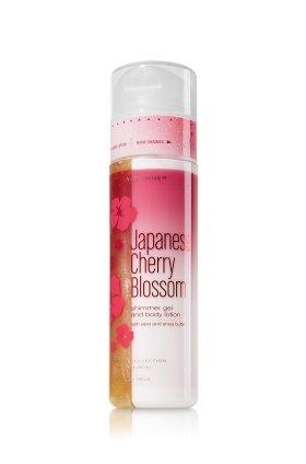 バス&ボディワークス ジャパニーズチェリーブロッサム ラメ入ボディジェル&ボディローション Japanese Cherry Blossom Shimmer Gel and Body Lotion