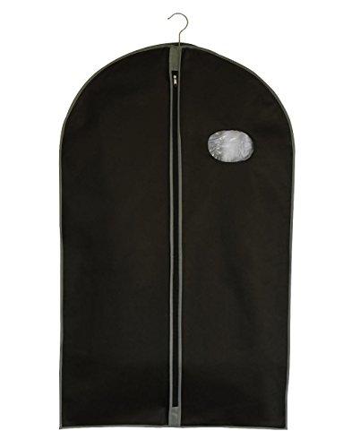 Jassz-Bezug pp-60100-sb-Transport oder verstauen von Kleidung-Hemden-Jacken-Kostüme-Kleider-einheitliche Schwarz schwarz 60x100 cm