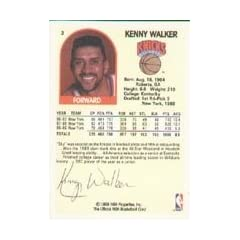 Kenny Walker New York Knicks 1989 Hoops Autographed Hand Signed Trading Card - signed... by Hall of Fame Memorabilia