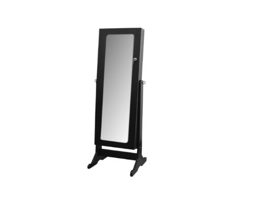 Ore International Th-6003Ch Standing Mirror With Storage And Jewelry Armoire Stand, 57-Inch, Dark Cherry Finish front-746727