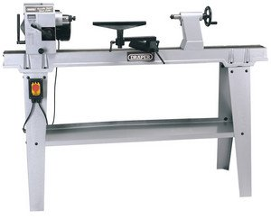 Draper 63938 230-Volt 550-Watt Variable-Speed Wood Lathe with Stand