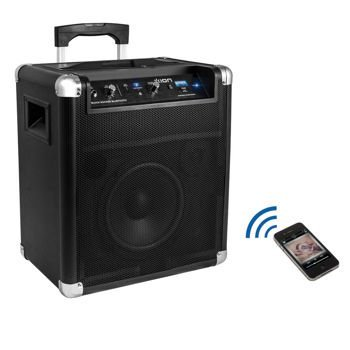 Ion Block Rocker Bluetooth Portable Speaker System With Auxiliary Usb Charger Refurbished With 75 Hour Battery