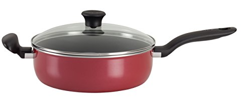 T-fal A77782 Initiatives Total Nonstick Save Jumbo Cooker, 5-Quart, Red (Tfal 5qt Pots compare prices)