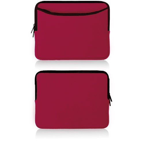 BoxWave Apple iPad 2 SoftSuit With Pocket (Crimson Red)