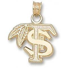 Florida State University FS Feather 1 2 - 10K Gold by Logo Art