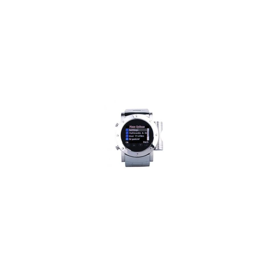 W980 Cool Stainless Steel Quad Band Bluetooth  Mp4 Wrist Watch Cell Phone Silver (2GB TF Card)(SZ05430042), world wide