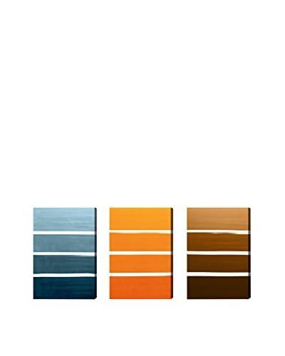 Oliver Gal Color Studies Autumn Triptych Canvas Art