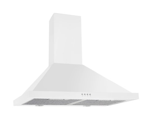 Ancona White Pyramid 450 CFM Wall Mount Range Hood, 30-Inch (30 White Range Hood compare prices)