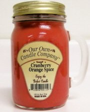 13oz CRANBERRY ORANGE SPICE Scented Jar Candle (Our Own Candle Company Brand) Made in USA - 100 hr burn time