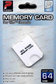 Playtech 64mb Memory Card for Wii Console