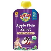 Earth'S Best Baby Foods Baby Puree Apple Plum Kam 4.2 Oz (Pack Of 12)