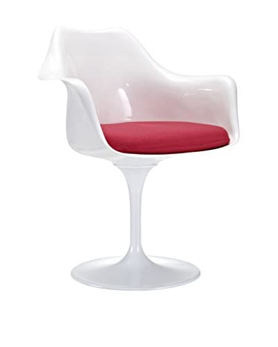 Modway Lippa Dining Arm Chair, Red