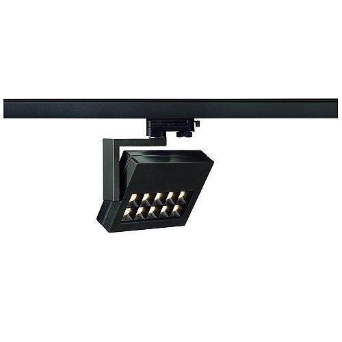 SLV LED 3-Phasen Strahler Profuno, 18W, 3000 K, 60 Grad, inklusiv Adapter, schwarz 152550
