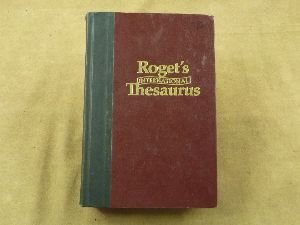Roget's International Thesaurus, 4th, Fourth Edition Robert L. Chapman